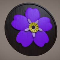 Small Forget Me Not Flower 3D Printing 110177