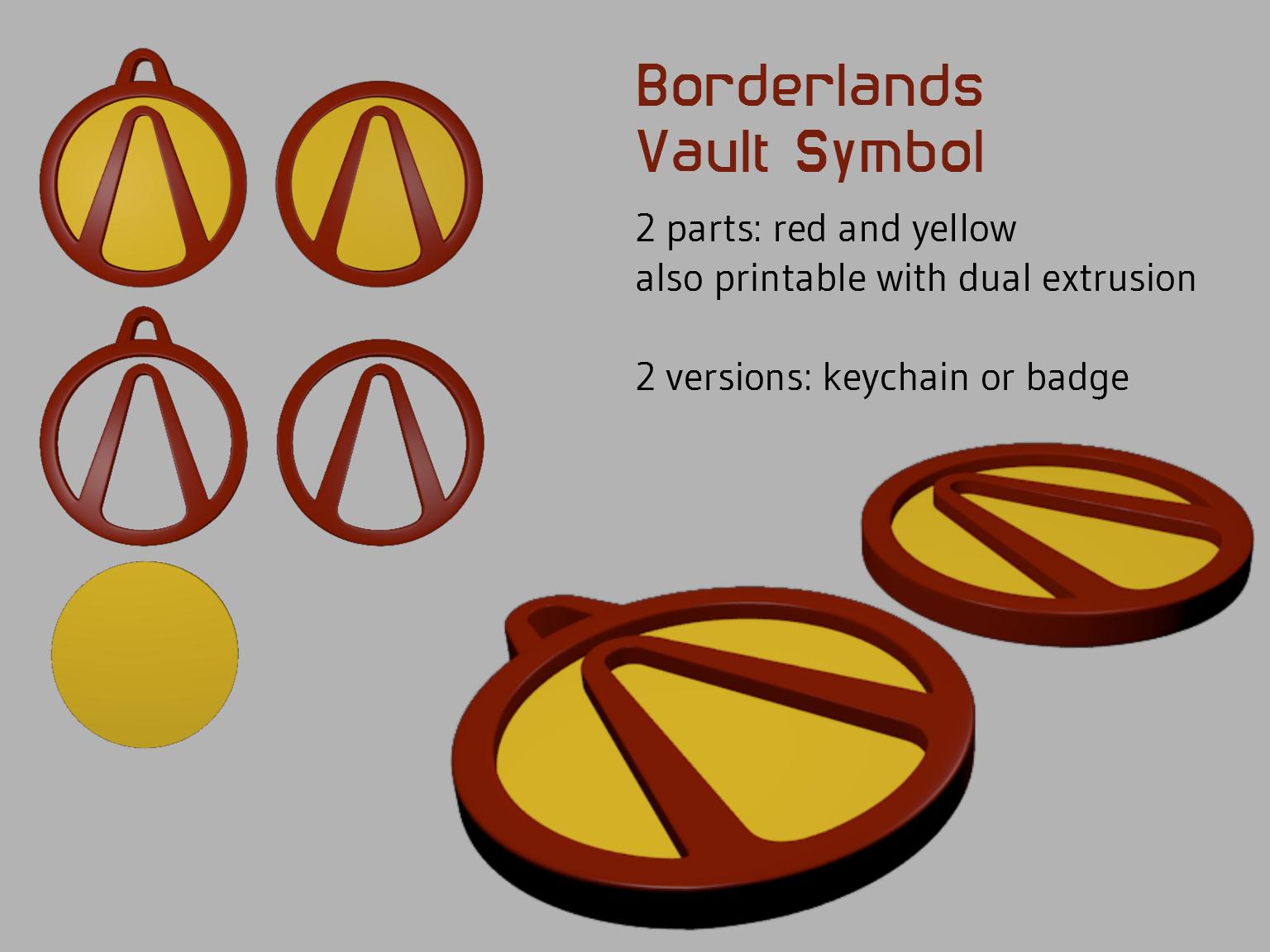 3d printed borderlands vault symbol by d vs z pinshape biocorpaavc