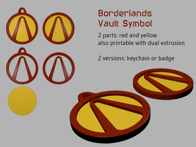 3d Printed Borderlands Vault Symbol By D Vs Z Pinshape
