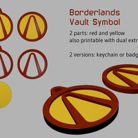 Small Borderlands Vault Symbol 3D Printing 110191