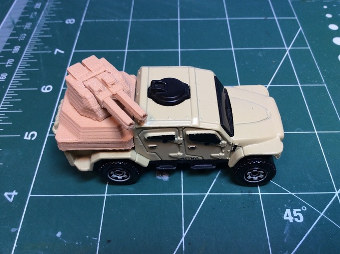 Gun turret for Matchbox toy truck  3D Print 110238