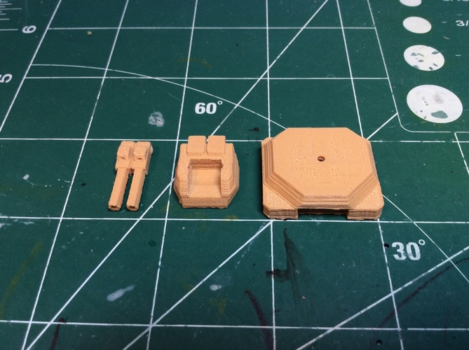 Gun turret for Matchbox toy truck  3D Print 110240