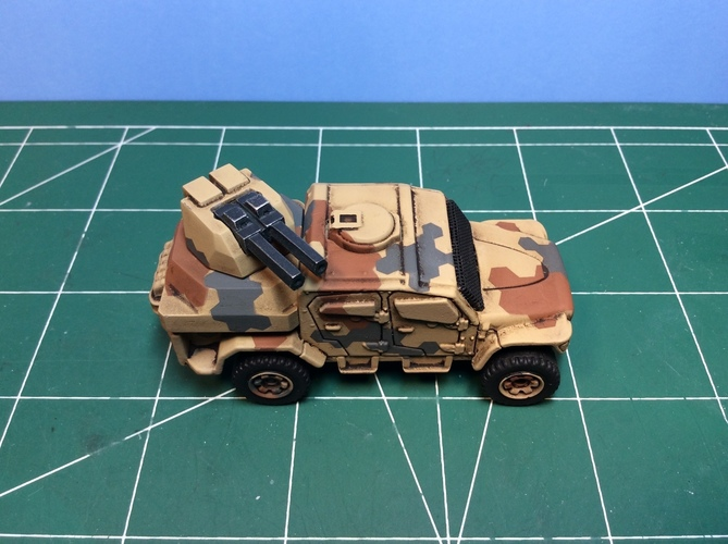 Gun turret for Matchbox toy truck  3D Print 110244