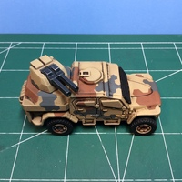 Small Gun turret for Matchbox toy truck  3D Printing 110244