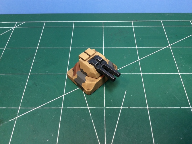 Gun turret for Matchbox toy truck  3D Print 110246