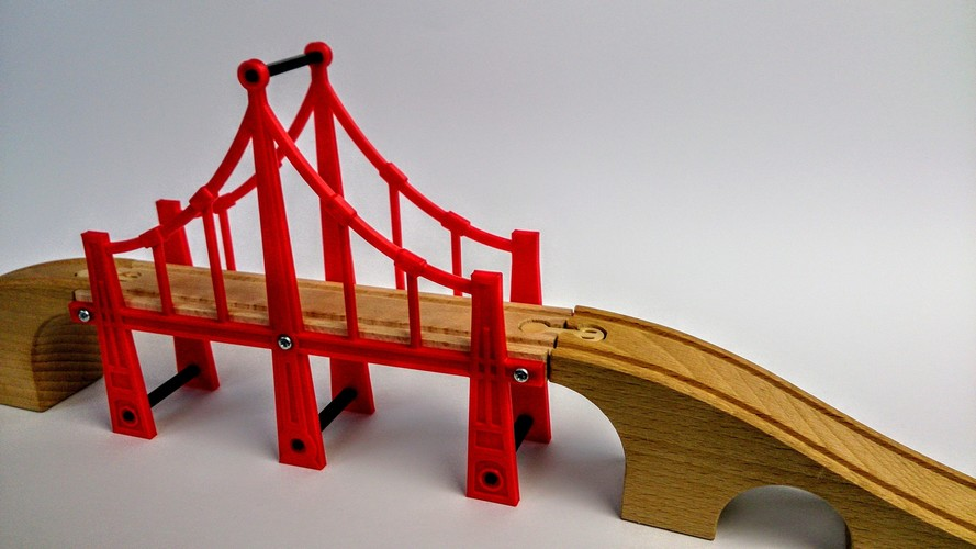 Bridge construction for wooden rails (IKEA) 3D Print 110288