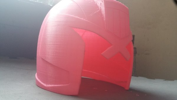Medium JUDGE ( DREDD ) HELMET 3D Printing 110300