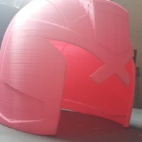 Small JUDGE ( DREDD ) HELMET 3D Printing 110300