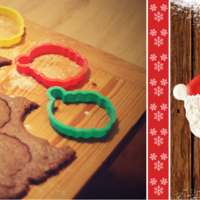 Small Santa Claus Cookie Cutter 3D Printing 110370