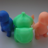 Small Charmander, Bulbasaur, Squirtle 3D Printing 110373