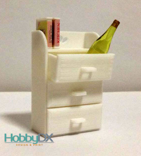 Miniature furniture drawers toy for sylvanian families 3D Print 110397