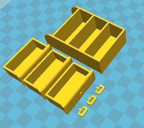 Miniature furniture drawers toy for sylvanian families 3D Print 110401