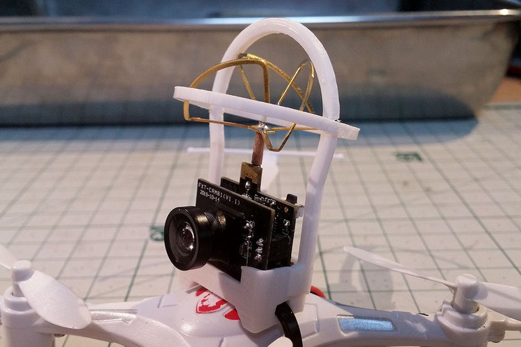 The Whoopinator- FPV Quad Camera Mount 3D Print 110430