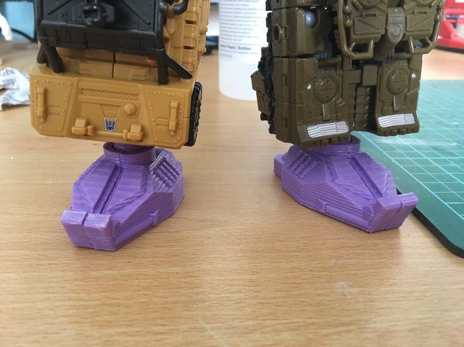 Combiner Wars Combiner foot with ball joint V2 3D Print 110516