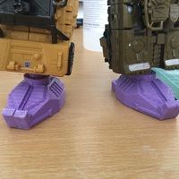 Small Combiner Wars Combiner foot with ball joint V2 3D Printing 110516