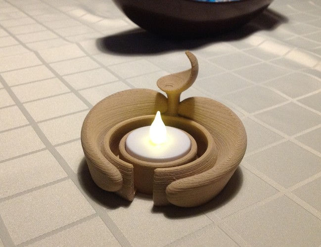 Real embrace - Candle holder 3D Print 110536