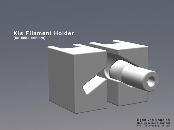Kis Filament Holder (for delta printers)  3D Print 110569