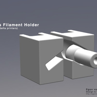Small Kis Filament Holder (for delta printers)  3D Printing 110569
