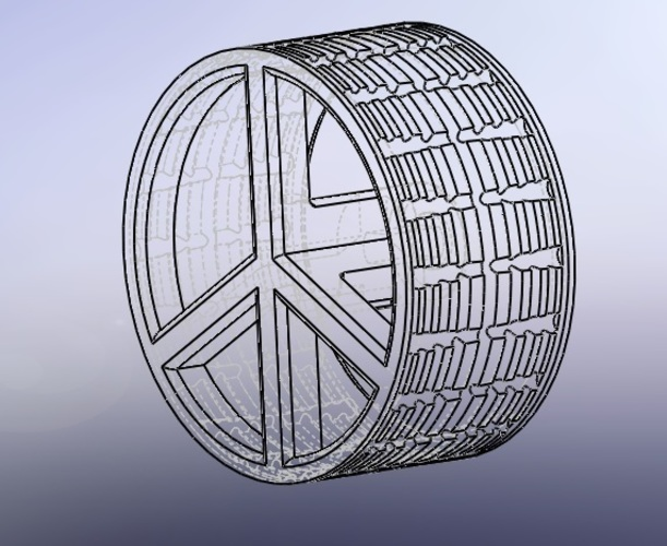 Peace & Love WheelBot  3D Print 110655