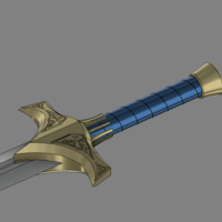 "Small Jaune Arc's Sword ""Crocea Mors"" 3D Printing 110666"
