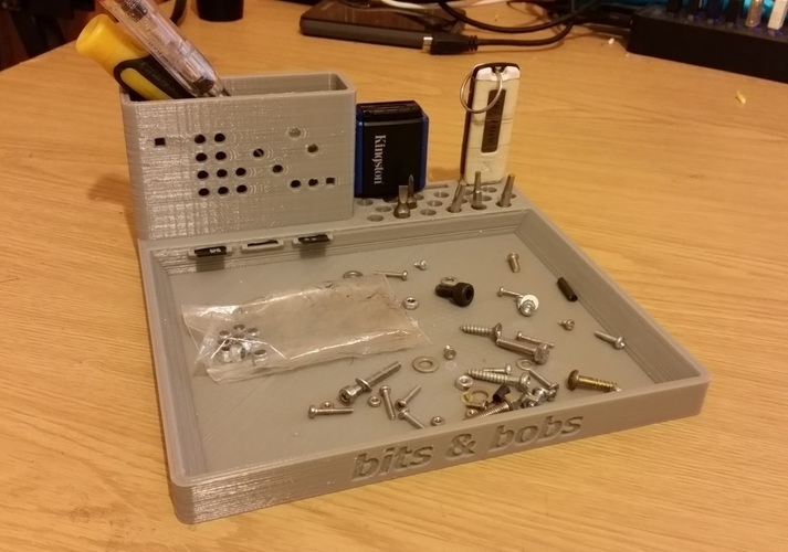 Desktop work tray for bits & bobs. 3D Print 110676