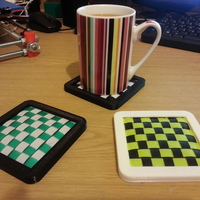 Small Designer drinks coaster 3D Printing 110687