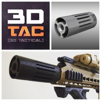 Small 3DTAC - AIRSOFT SOUND ENHANCER 3D Printing 110706