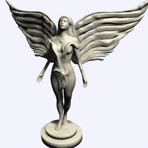 Beautiful Angel 3D Print 110725