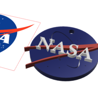 Small Nasa key chain 3D Printing 110730