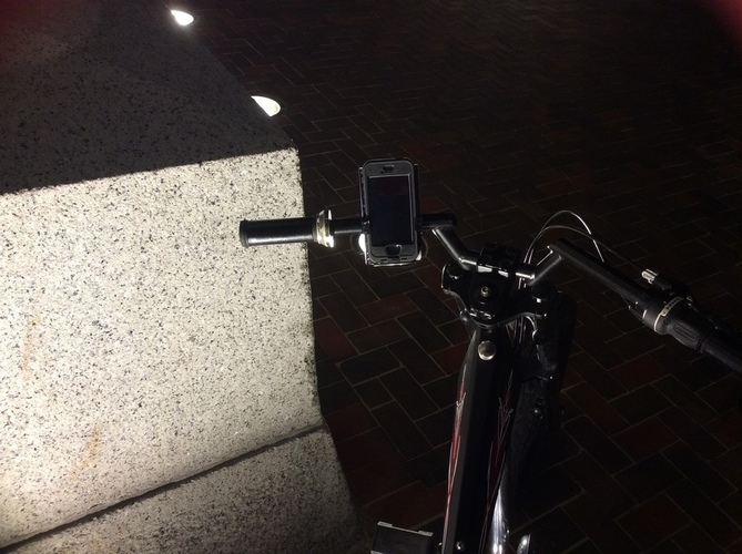 Motorcycle E bike phone mount 3D Print 110774