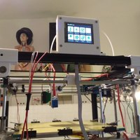 Small MKS TFT28 touch screen case for top-mounting on 2020 extrusion ( 3D Printing 110783