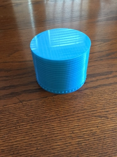 Decorative threaded Container 3D Print 110819