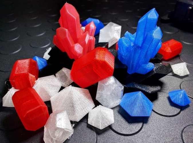 Crystals, Diamonds, and Gems 3D Print 110854