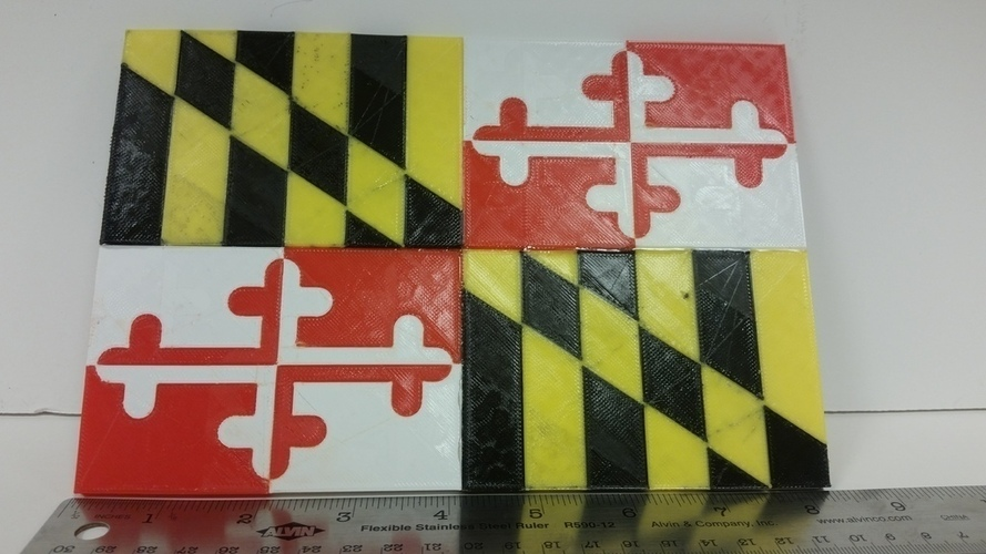 Maryland Flag Dual Extrusion 3D Print 110860