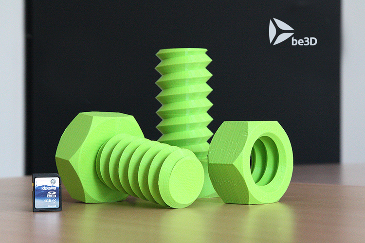 Screw and Nut 3D Print 110960