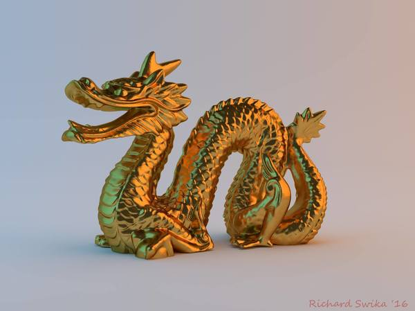Medium Magic Puff Dragon 3D Printing 111046