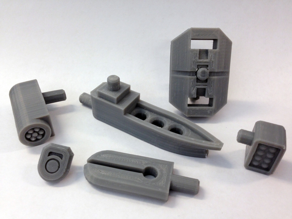 Medium Mech City: Equipment Expansion Set 3D Printing 111139