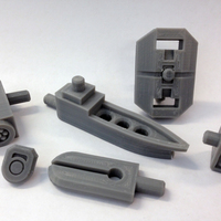 Small Mech City: Equipment Expansion Set 3D Printing 111139