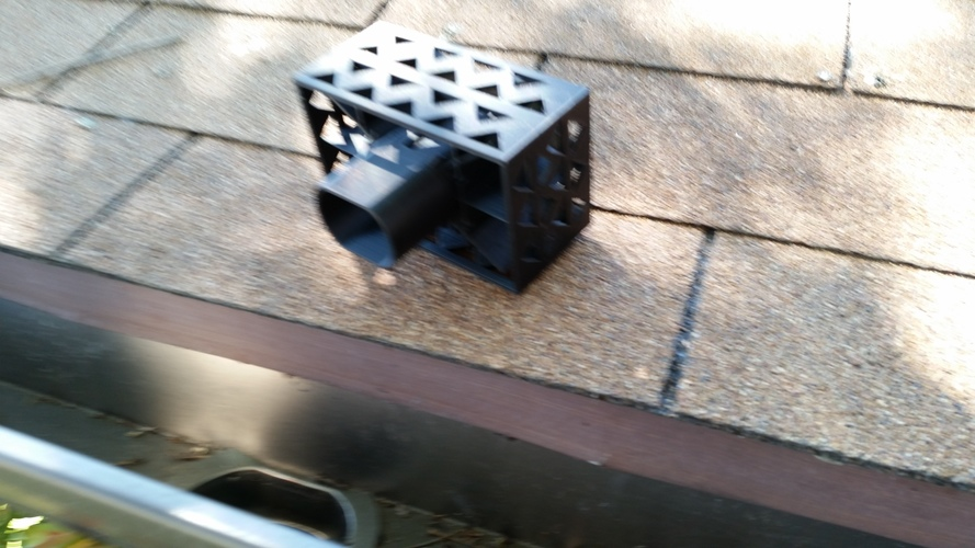 Gutter Downspout Filter 3D Print 111273