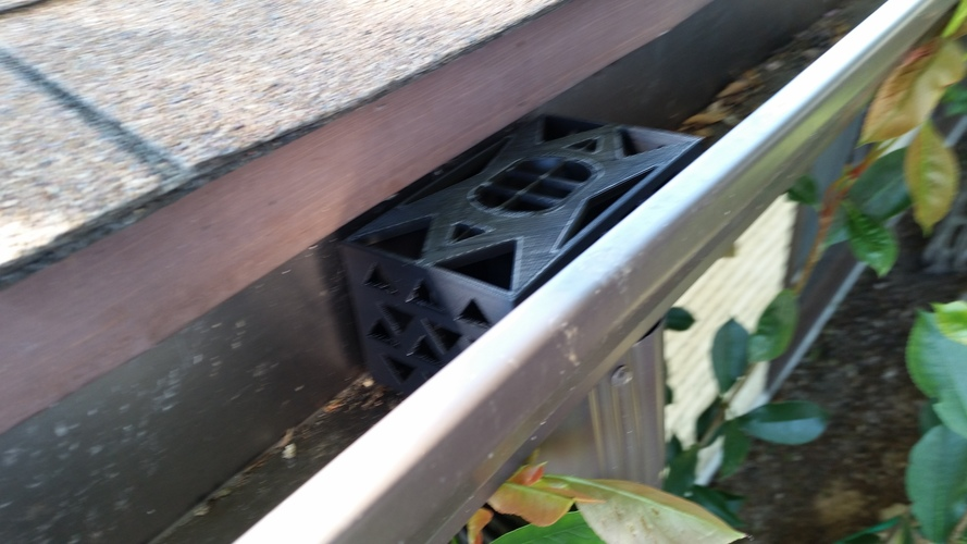Gutter Downspout Filter 3D Print 111276