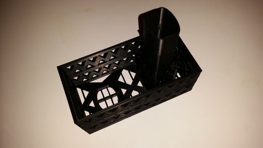 Gutter Downspout Filter (extended corner section) 3D Print 111309