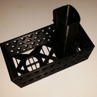 Small Gutter Downspout Filter (extended corner section) 3D Printing 111309