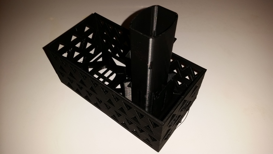 Gutter Downspout Filter (extended corner section) 3D Print 111310
