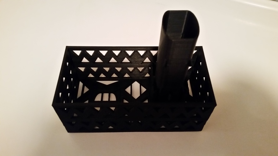Gutter Downspout Filter (extended corner section) 3D Print 111312