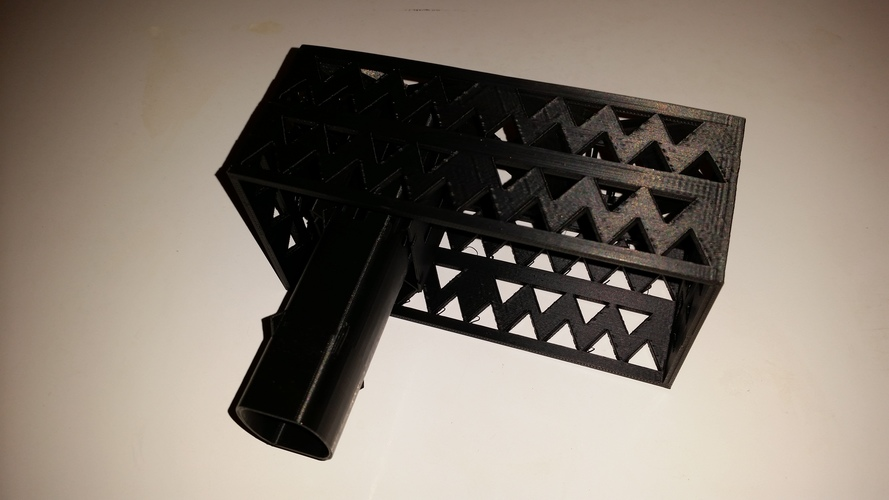 Gutter Downspout Filter (extended corner section) 3D Print 111313