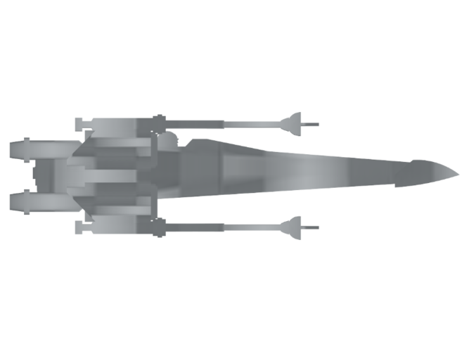 X-Wing - Star Wars 3D Print 111387