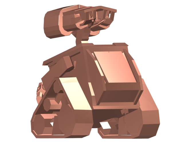 Wall-E (Low Poly) 3D Print 111391
