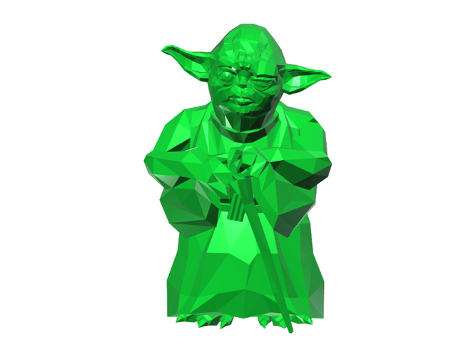 Yoda - Star Wars (Low Poly) 3D Print 111396