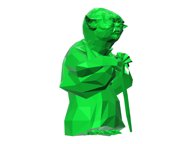 Yoda - Star Wars (Low Poly) 3D Print 111397