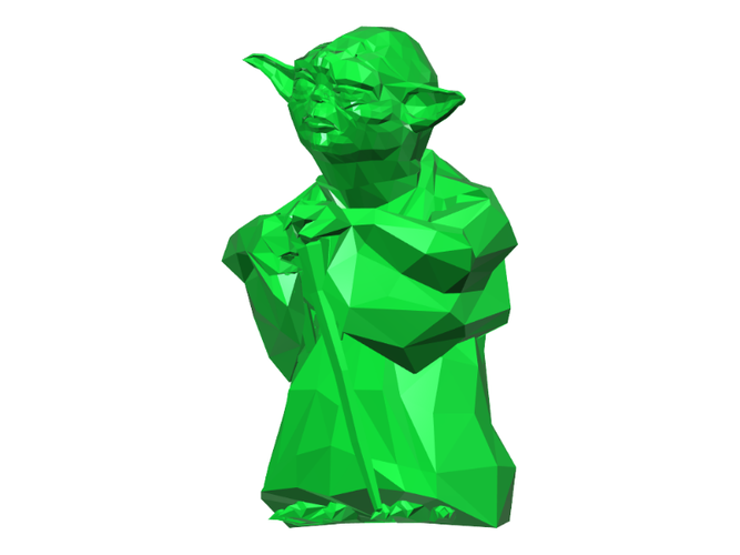 Yoda - Star Wars (Low Poly) 3D Print 111398